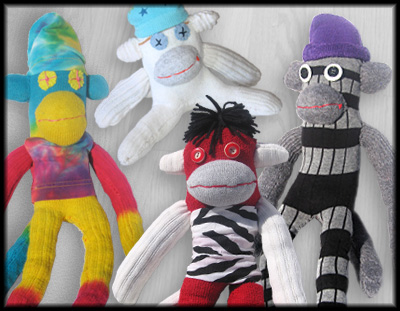 One-of-a-Kind Sock Monkeys
